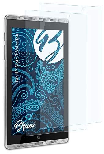 Bruni Schutzfolie kompatibel mit HP Slate 7 VoiceTab Folie, glasklare Bildschirmschutzfolie (2X)