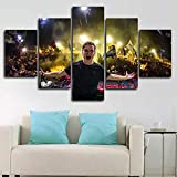 ZHRMGHG Print Canvas 5 Teilig Framed Dj Martin Garrix Live