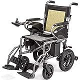Silla de ruedas eléctrica, plegable y silla de ruedas asiento de silla de ruedas fácilmente accionado inteligente automático eléctrico anchura 41cm capacidad de 360 ° peso palanca de mando 100 kg