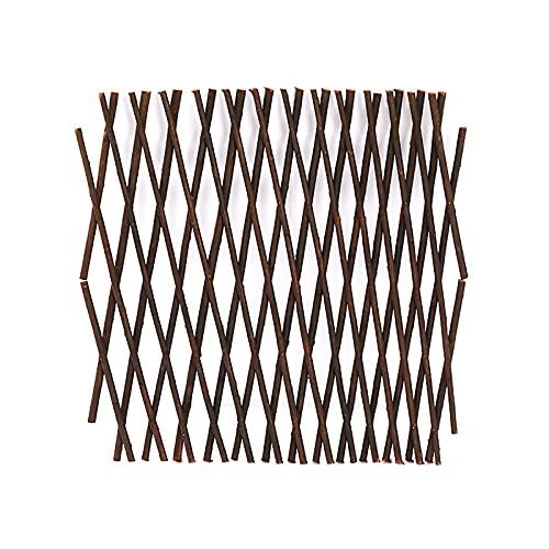 Vurucaa Verstellbarer künstlicher Zaun, künstliche Hecke, Sichtschutz, Garten, ausziehbares Rankgitter aus Holz