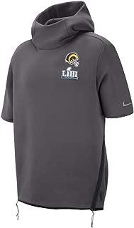 Nike Men's Therma L.A. Los Angeles Rams NFL Sideline Super Bowl LIII Short-Sleeve Hoodie Size XXL