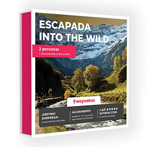 Caja Regalo - ¡Escapada de Dos días Into The Wild! - con hoteles y Casas Rurales con Encanto - El Mejor Cofre de experiencias para Regalar