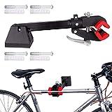 Soporte de reparación de bicicletas, montado en la pared, plegable, para garaje en casa, soporte de mantenimiento mecánico, soporte de trabajo para bicicleta de carretera y bicicleta de montaje