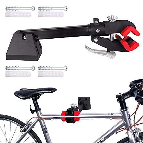 Supporto di riparazione della bicicletta da parete pieghevole per la casa, garage e manutenzione meccanica, supporto da lavoro per bici da strada e mountain bike