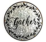Teatime Decor Gather Sign with Rustic Wreath
