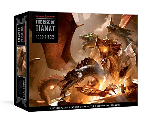Compare Textbook Prices for The Rise of Tiamat Dragon Puzzle Dungeons & Dragons: 1000-Piece Jigsaw Puzzle Featuring the Queen of Evil Dragons: Jigsaw Puzzles for Adults  ISBN 9781984824646 by Official Dungeons & Dragons Licensed