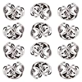AIEX 12Pcs/6 Pairs 925 Sterling Silver Earring Backs Replacements Butterfly Studs Earring Stoppers for Standard Earrings Posts(Silver 4 x 5mm)