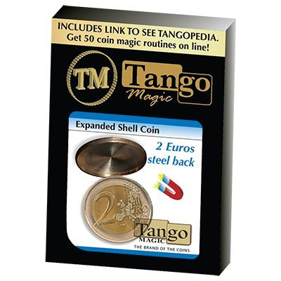 SOLOMAGIA Expanded Shell Coin (Steel Back) - 2 Euro by Tango Magic - Magic with Coins - Tours et Magie Magique