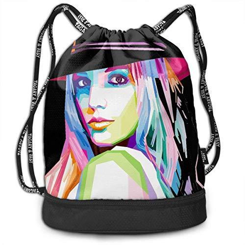 BGDFN Rucksack-Tasche mit Kordelzug Britney Spears Sports Backpack Leisure Travel Bag Shoulder Bag Bundle Backpack Handbag