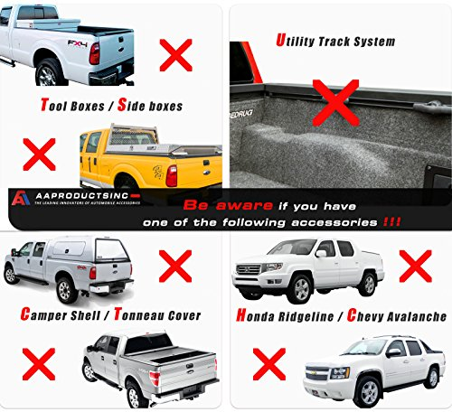 AA Products Inc. AA-Racks X35 Truck Rack with (8) Non-Drilling C-Clamps Pick-up Truck Utility Ladder Rack Matte White