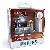 Philips H4 X-treme Vision Car Headlight Bulbs. 12v 55w.