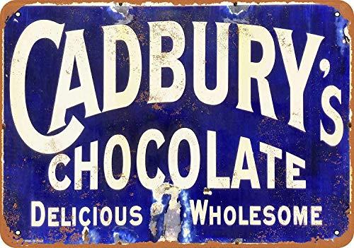 niet Cadbury's Chocolade Tin Muurbord Metalen Retro Poster Iron Waarschuwingsborden Vintage Opknoping Art Plaque Yard Garden Cafe Bar Pub Openbaar Gift 8X12 Inch