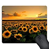 SSOIU Gaming Mouse pad Custom, Sunflower Field Personalized Design Gaming Mouse Pads 9.5 X 7.9 Inch (240mmX200mmX3mm)