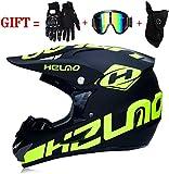M-GLT Casque de motocross avec lunettes de protection, masque de protection DH Offroad Enduro ATV BMX VTT Downhill Dirt Bikes Quad Moto Cross Country