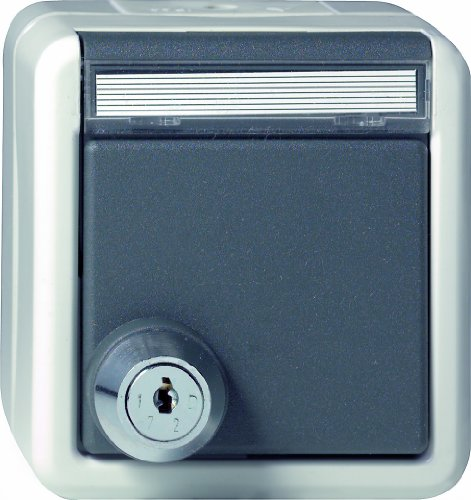 Gira 044730 Schuko stopcontact klapdeksel slot gesorteerd waterdicht opbouw, grijs