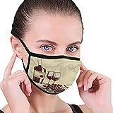 WiNjTyMOYO Mouth Mask Mask Adjustable Earloop Face Mask Template Wine menu Bottle Glasses Grapes