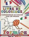 Livre de coloriage: Français - Italien I L'apprentissage de l'italien pour les...