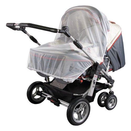 Sunnybaby 10163 Insektenschutznetz für Zwillings-Kinderwagen - Farbe: WEISS