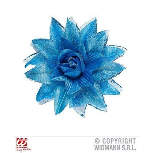 Lively Moments Haarblume / Haarschmuck / Kostümzubehör Hawaii Blüte in blau auf Haarspange