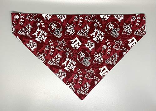 Texas A&M University Aggies Print Dog Bandana No-Tie