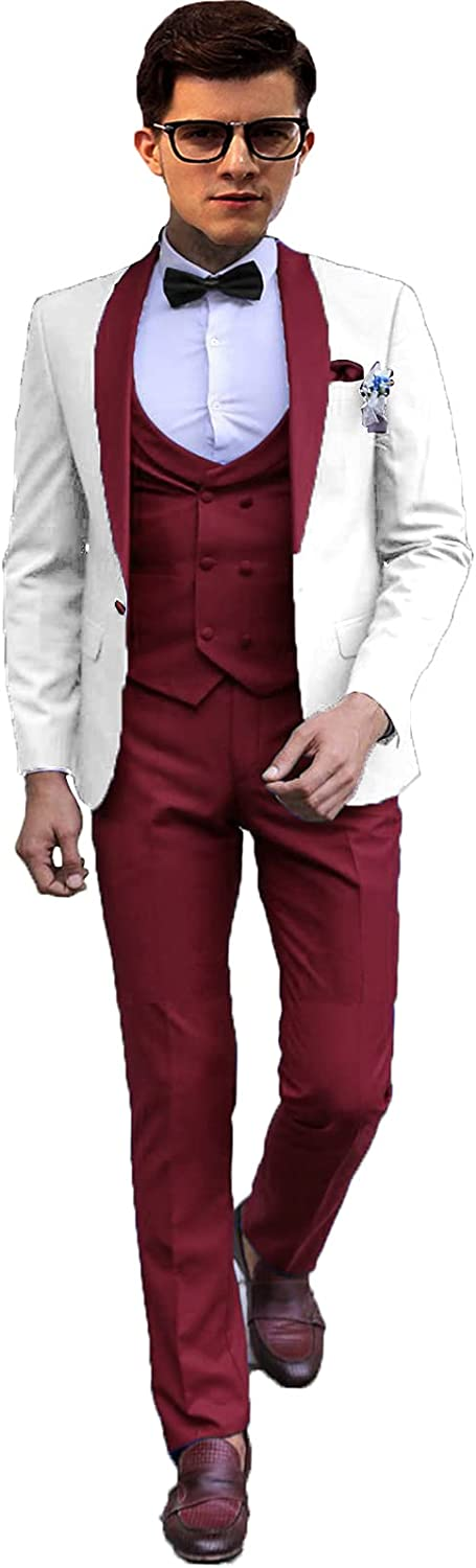 Setwell Men's Wedding Tuxedo Suit Formal Fashion Tampa Mall Suits Store Men D for