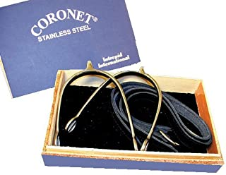 Coronet Women's Prince of Wales English Show Spurs with Boxed Spur/Leather Straps