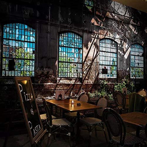 3D grote wandafbeelding vlies wanddecoratie retro industrieel raam fotobehang 200cm*140cm Lm001