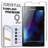 REY Protector de Pantalla para Lenovo Tab 2 A7-30, Cristal Vidrio Templado Premium