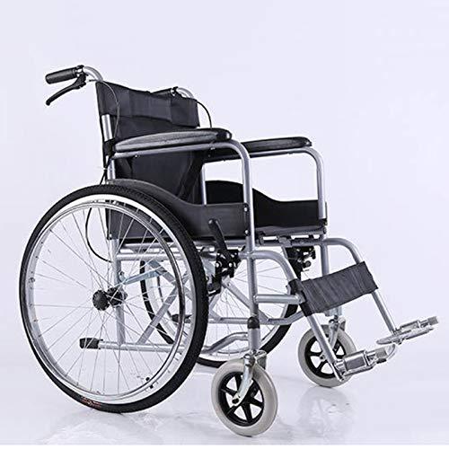 AKOC Protector de Manos Antideslizante Plegable Ligero para Silla de Ruedas, con Orinal extraíble, con Correa para el Protector de piernas. Rueda Delantera Universal sólida no Inflable