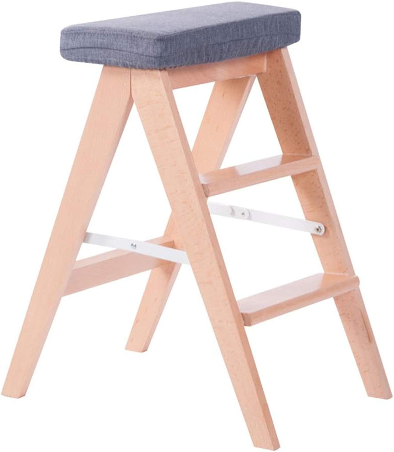 Kitchen Helper Stool - Folding Step Stool for Little Kids, Toddler Safety Cooking Tower Learning Furniture Foldable Stool Escalera Plegable Madera