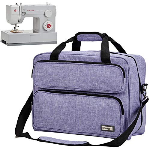 HOMEST Sewing Machine Carrying Case, Universal Tote Bag with Shoulder Strap Compatible with Most Standard Singer, Brother, Janome, Purple (Patent Design)