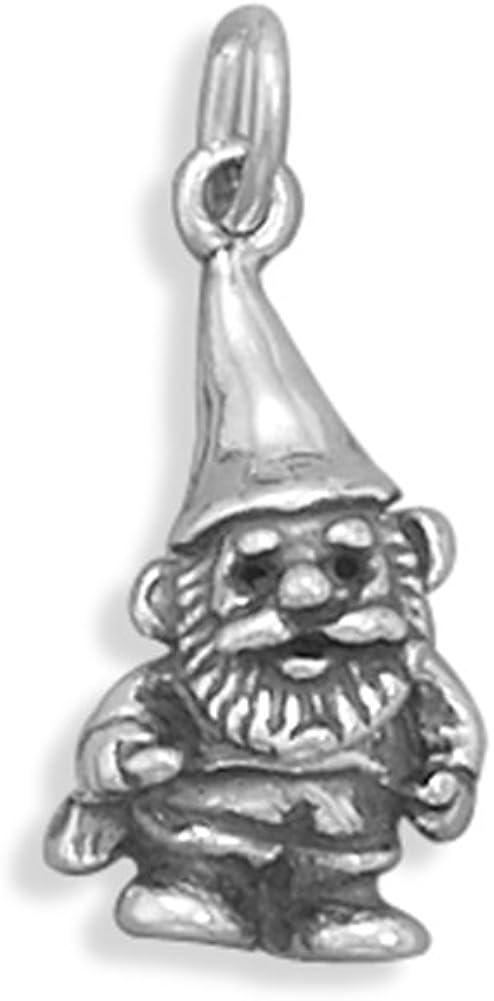 Nashville-Davidson Mall Garden Gnome Charm 3-D Silver Boston Mall Sterling