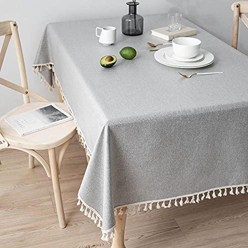 XQSSB Rectangular Mantel de Impermeable Estilo Moderno Anti Scottatura Tamaño Seleccionable de Cocina Salón Grigio a 120 × 170cm