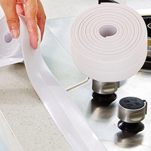 Badewanne Fugen Strip PE selbstklebend Badewanne Wand Dichtungsband und acrylfugen Maschinen, X 1,25x 1,5inch-white