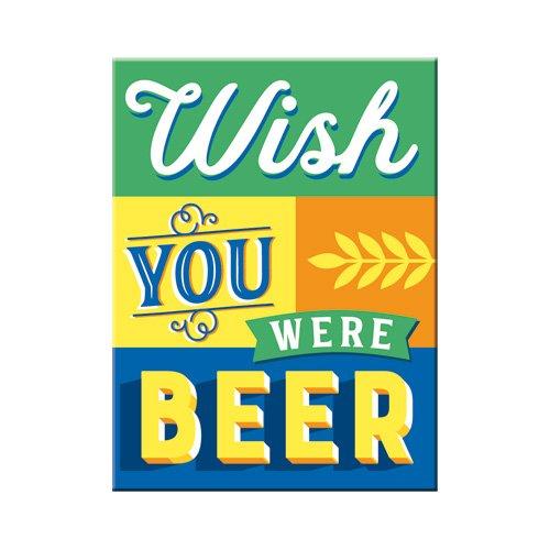 Nostalgic-Art 14365 Wish You Were Beer | Retro Magnet | Kühlschrank-Magnet | Vintage | 6x8 cm