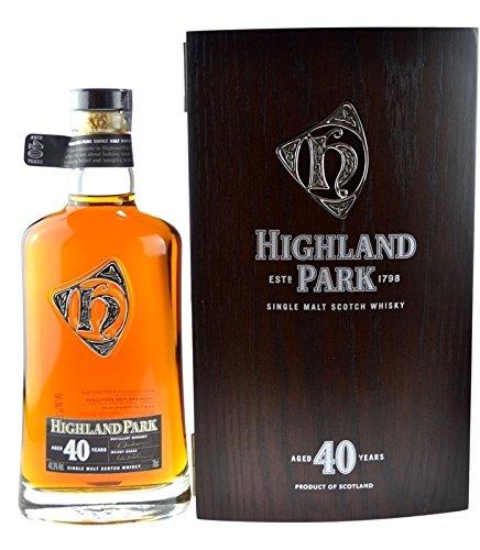 Rarität: Highland Park Single Malt Scotch Whisky 40 Jahre - 0,7l inkl. Holzkiste - die seltene Abfüllung wird Sie begeistern!