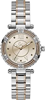 Gc Womens Quartz Watch, Analog Display and Stainless Steel Strap Y41007L3MF