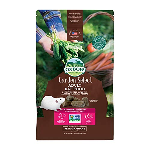 Oxbow Animal Health Garden Select Adult Rat Food, Garden-Inspired Recipe for Adult Rats, Non-GMO, Made in The USA, 2.5 Pound Bag