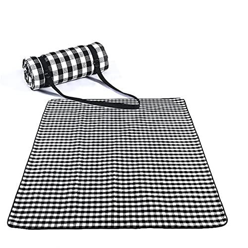 Alfombra De Playa Tela blanca roja al aire libre plegable plegable a prueba de picnic alfombra de picnic de la moda espesar almohadilla transpirable suave portátil para acampar viaje de la playa