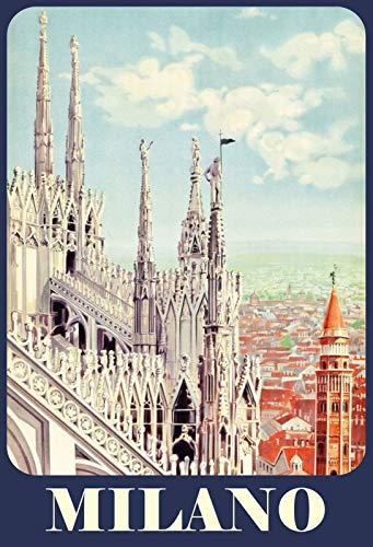 Schatzmix Milano Cathédrale Italy Plaque en métal 20 x 30 cm Multicolore 20 x 30 cm