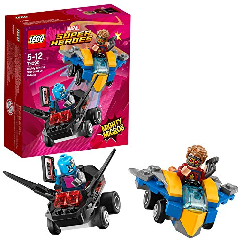 LEGO- Super Heroes Nebula Mighty Micros: Starlord conNebula, Multicolore, 76090