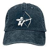 Bokueay Hombre Practica Tiro con Arco Deportes Gorra de Mezclilla Ajustable Snapback Unisex Liso Sombrero de Vaquero de béisbol Estilo clásico
