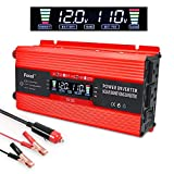 LVYUAN Power Inverter 700W/1500W Dual AC Outlets and Dual USB Charging Ports DC to AC Inverter 12V to 110V Car Converter DC 12V...