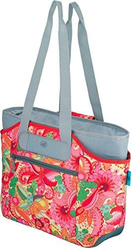 alfi Thermo-Kühltasche, isoBag mittel 23 Liter - Isolierte Einkaufstasche aus Polyester, bunt Blumenmuster 57 x 38 x 50 cm - 2in1, Isoliertasche inkl. extra Tragetasche - 0007.801.812