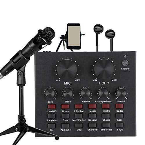 Live Geluidskaart, Audio Externe Hoofdtelefoon Microfoon Live Transmissie Geluidskaart Voor Mobiele Telefoon Computerondersteuning Mobiele Telefoons, Computers, Tablets, Enz