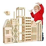Ysswjzz Bloques de Madera Cuadrados, 100 PCS/Set Bloques de construcción de Modelos arquitectónicos de Madera Rompecabezas Niños Juguetes de educación temprana - Grandes Juguetes para niños Niño