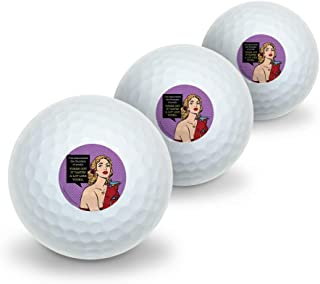 GRAPHICS & MORE Discovered Fountain of Youth Tastes Like Vodka Funny Humor Novelty Golf Balls 3 Pack
