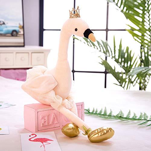 Cartoon Animal Doll Knuffel Kussen Voor Meisjes Cadeaus 35cm Witte zwaan