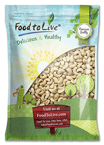 Raw Cashew Nuts by Food to Live, Whole, Unsalted, Bulk — 8 Pounds