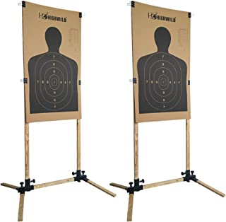 Highwild Adjustable Target Stand Base for Paper Shooting Targets Cardboard Silhouette - USPSA/IPSC - IDPA Practice